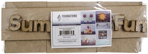 Foundations Decor Shadow Box Kit-Summer Fun -026585 - 814948026585