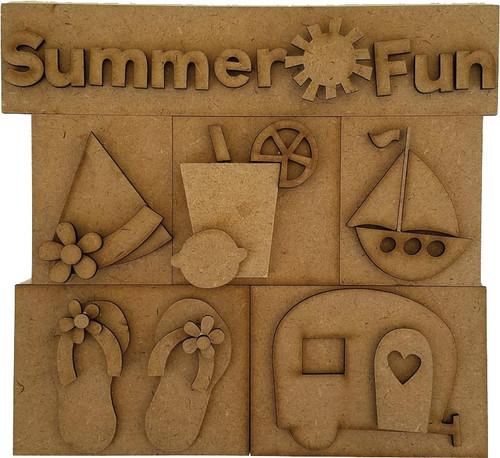 Foundations Decor Shadow Box Kit-Summer Fun -026585