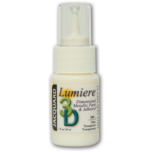 6 Pack Jacquard Lumiere 3D Clear Adhesive & Dimensional Paint 1oz-Clear -JDPCLEAR - 743772027386