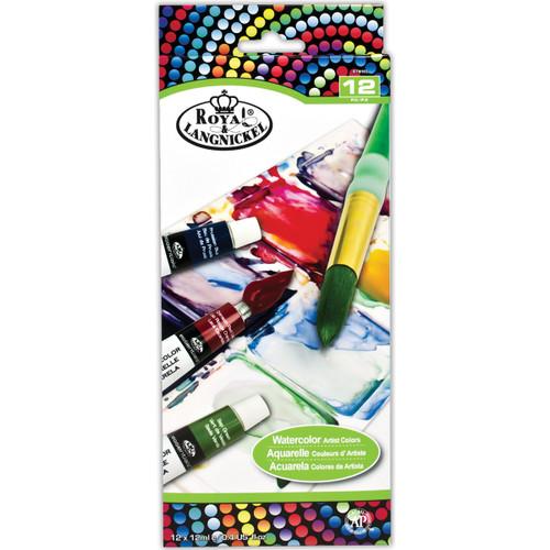 Watercolor Paint 12ml 12/Pkg-Assorted Colors -RTN-102 - 090672948564