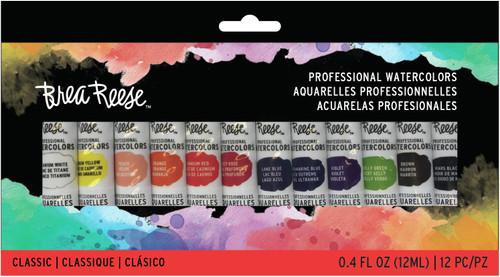 Brea Reese Watercolor Paint Set 12/Pkg-Primary -BR33843 - 760899338430