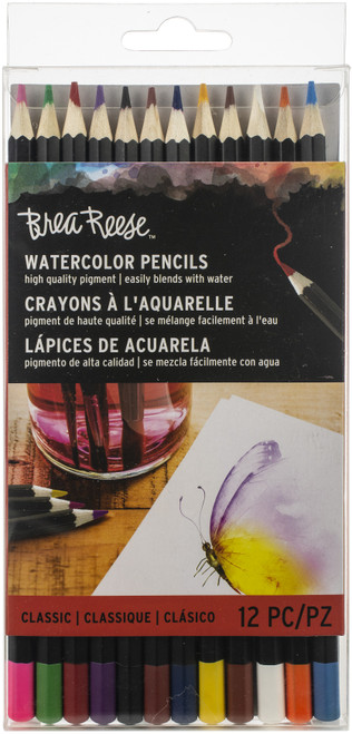Brea Reese Watercolor Pencils 12/Pkg-Classic -BR33833 - 760899338331