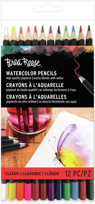 Brea Reese Watercolor Pencils 12/Pkg-Classic -BR33833