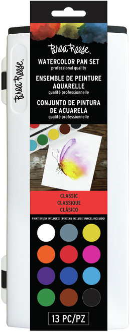 Brea Reese Watercolor Pan Paint Set 13/Pkg-Primary -BR33338 - 760899333381