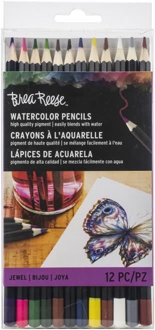 Brea Reese Watercolor Pencils 12/Pkg-Jewel -BR33834 - 760899338348