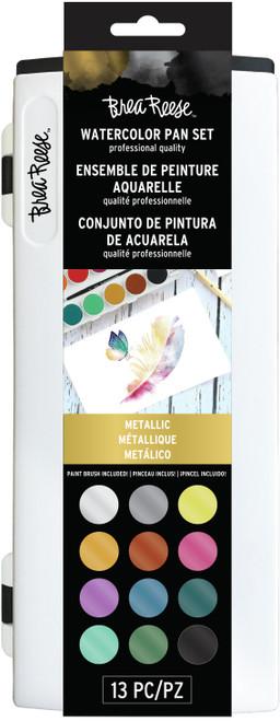 Brea Reese Watercolor Pan Paint Set 13/Pkg-Metallic -BR33337 - 760899333374