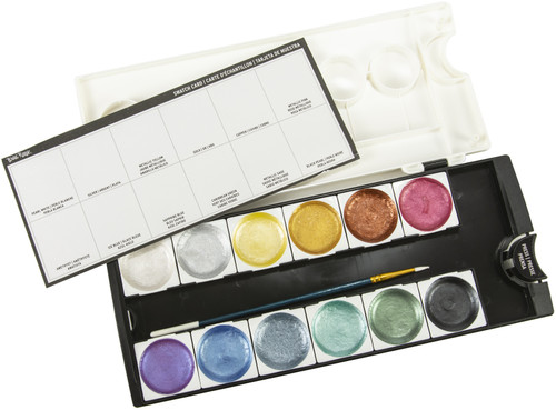 Brea Reese Watercolor Pan Paint Set 13/Pkg-Metallic -BR33337
