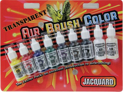 Jacquard Transparent Airbrush Exciter Pack .5oz 9/Pkg-JAC9937 - 743772993704