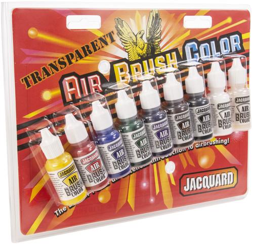 Jacquard Transparent Airbrush Exciter Pack .5oz 9/Pkg-JAC9937