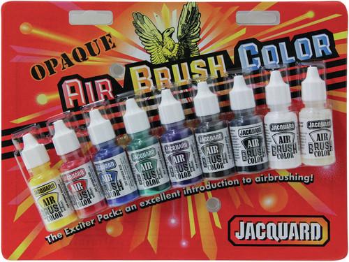 Jacquard Opaque Airbrush Exciter Pack .5oz 9/Pkg-JAC9935 - 743772993506