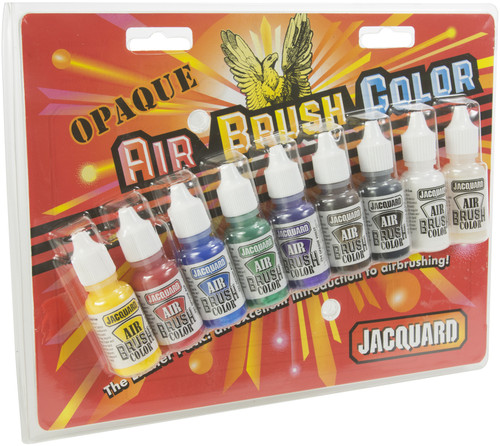 Jacquard Opaque Airbrush Exciter Pack .5oz 9/Pkg-JAC9935