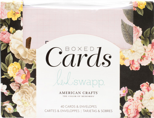 "Heidi Swapp A2 Cards W/Envelopes (4.375""X5.75"") 40/Box-Floral -HS347054 - 718813470544"