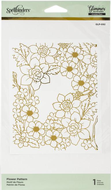 Spellbinders Glimmer Hot Foil Plate-Flower Pattern -GLP092 - 879216008694