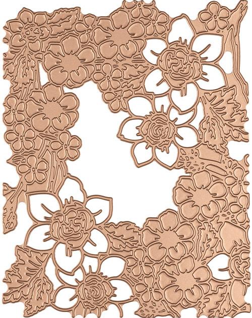 Spellbinders Glimmer Hot Foil Plate-Flower Pattern -GLP092