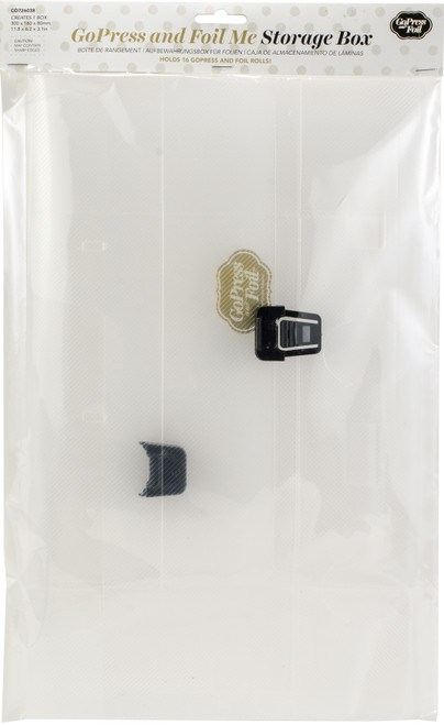 """Couture Creations GoPress & Foil Storage Case-Empty 12.2""""X2.7""""X6.2"""" -CO726038 - 9332839055908"""