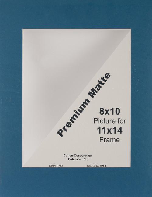 "Photo Mat 11""X14"" Single Hand-Cut W/Bevel Edge-Dark Blue (Navy) W/White Core -HC1114-11006 - 078592110063"