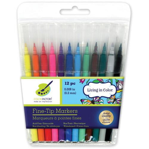 Living In Color Markers .2mm Fine Tip 12/Pkg-Multicolor -PA470 - 775749206142