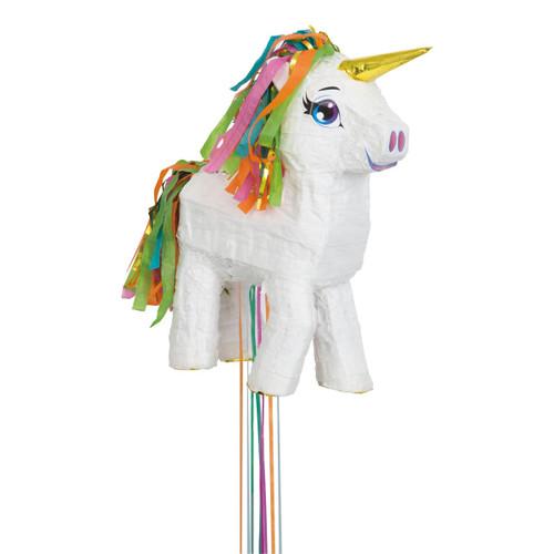 """Pull Pinata -White Unicorn 13""""X18"""" -65987 - 011179659876"""