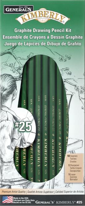 Kimberly Graphite Drawing Kit 12/Pkg-25GP - 044974105255