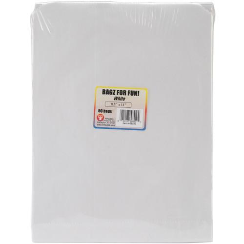 "Hygloss Pinch Bottom Paper Bags 8.5""X11"" 50/Pkg-White -58550 - 081187585504"