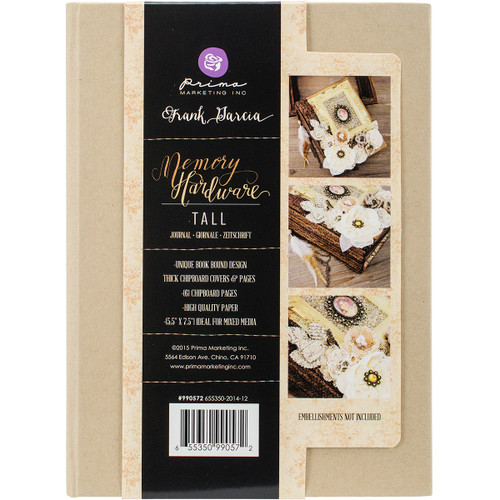 """Prima Memory Hardware Chipboard Journal 7.5""""X5.5""""-Kraft Tall W/6 Pages -990572 - 655350990572"""