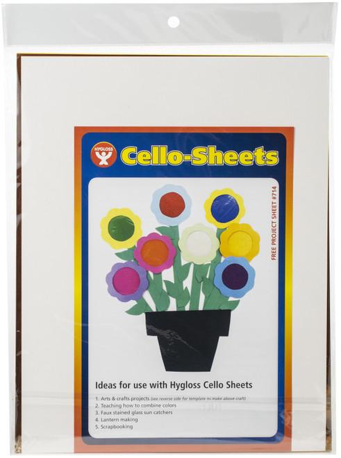 """Cello Sheets 8.5""""X11"""" 48/Pkg-6 Each Of 8 Colors -78548"""