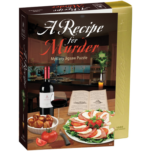 """Jigsaw Shaped Puzzle 1000 Pieces 23""""X29""""-Recipe For Murder -33121 - 023332331215"""