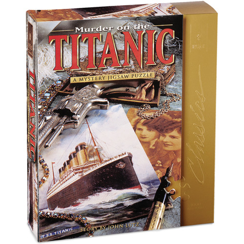 """Jigsaw Shaped Puzzle 1000 Pieces 23""""X29""""-Murder On The Titanic -33101 - 023332005215"""