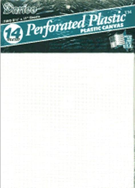 """Darice Perforated Plastic Canvas 14 Count 8.5""""X11"""" 2/Pkg-White -39500-2 - 082676077913"""