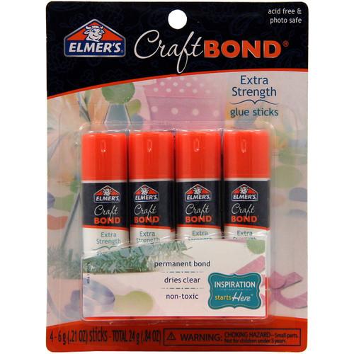 Elmer's CraftBond(R) Extra Strength Glue Sticks 4/Pkg-.21oz -E4016 - 026000040167