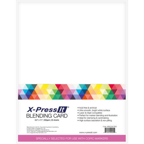 "X-Press Blending Card 8.5""X11"" 25/Pkg-White -XPBC25 - 814291000454"