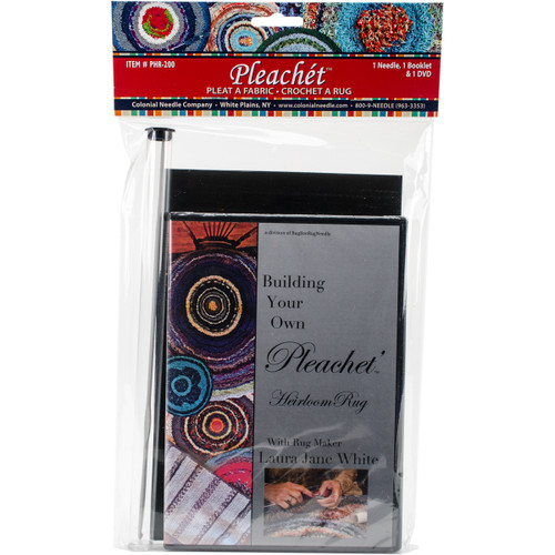 Colonial Needle Pleachet Rug Needle, How-To Booklet & Dvd-PHR-200 - 091955000146