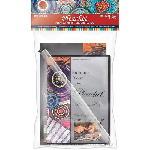 Colonial Needle Pleachet Rug Needle, How-To Booklet & Dvd-PHR-200