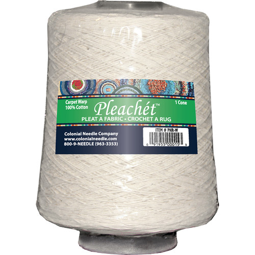 Colonial Needle Pleachet Carpet Warp-1lb Cone -PHR-W - 091955000153