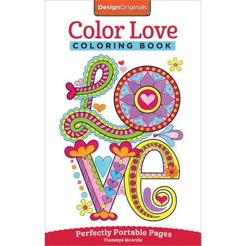 Design Originals-Color Love Coloring Book -DO-5570 - 9781497200357