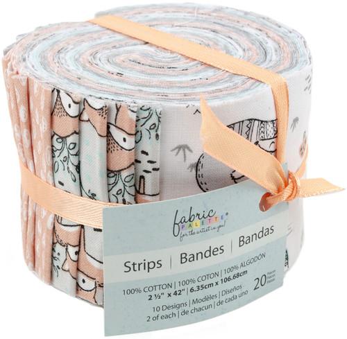 "Fabric Palette Jellies 2.5""X42"" 20/Pkg-Charming Woodland 5 Designs/1 Each -GSTPTHM3 - 699919237685"