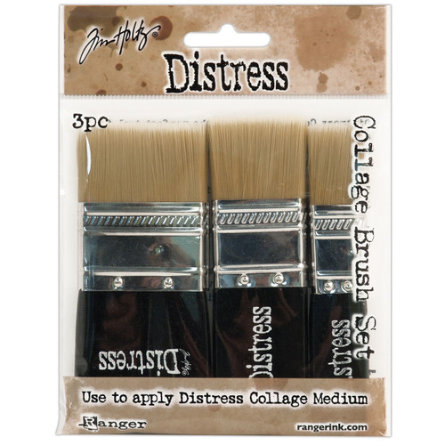"Tim Holtz Distress Collage Brush Assortment-1 Each Of 3/4"", 1-1/4"" & 1-3/4"" -TDA50896 - 789541050896"