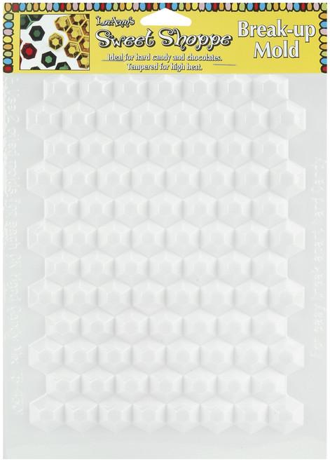 Sweet Shoppe Candy Molds-Hexagon Breakup 90 Cavity -L55-42 - 023535055420