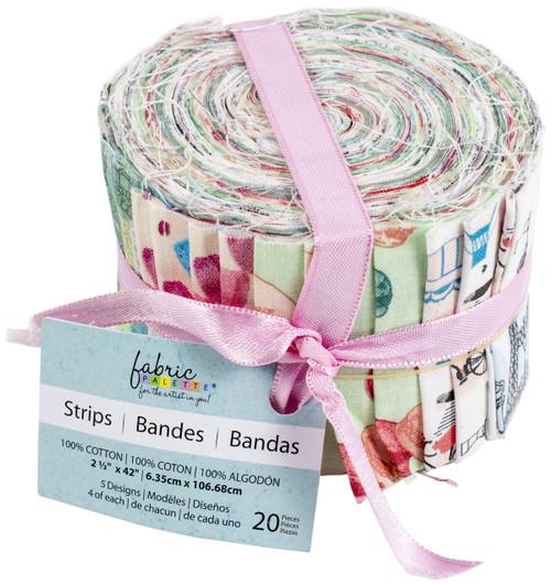 "Fabric Palette Jellies 2.5""X42"" 20/Pkg-Summertime In Paris -JL206421 - 699919206421"