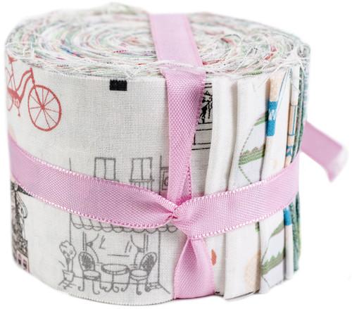 "Fabric Palette Jellies 2.5""X42"" 20/Pkg-Summertime In Paris -JL206421"
