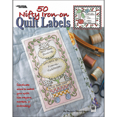 Leisure Arts-50 Nifty Iron-On Quilt Labels -LA-3466 - 0289060346609781601407368