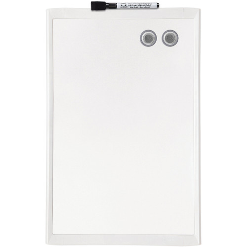 """Magnetic Dry Erase Board 11""""X17""""-White -MHOW1117"""