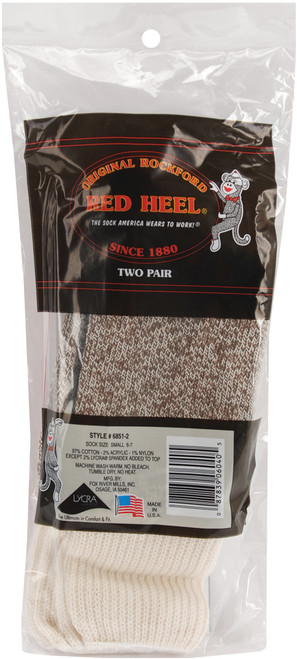 Fox River Red Heel Monkey Socks 2 Pairs-Small Brown Heather -6851-2-SMALL - 087839060405