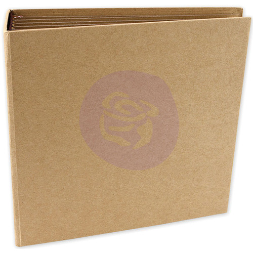 """Prima Memory Hardware Chipboard Journal 6.5""""X6.75""""-Kraft Square W/6 Pages -990374 - 655350990374"""