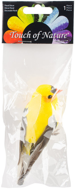 """Mushroom Bird W/Wire 4""""-American Goldfinch -MD20553 - 684653205533"""