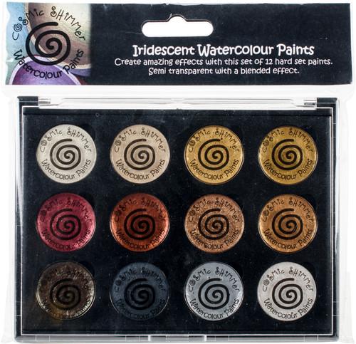 Cosmic Shimmer Iridescent Watercolor Palette Set 1-Metallics -CSIWPST1 - 5055260908530