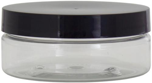 Jar W/Black Lid -Clear -61521 - 649979615213