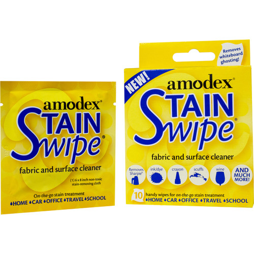 Amodex Stain Swipe Surface Cleaner Towelettes 10/Pkg-10029
