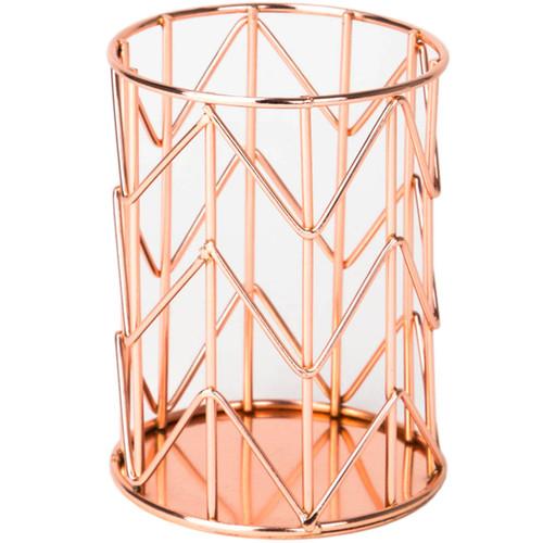 Wire Pencil Cup 1/Pkg-Copper -857U0112 - 812296028572