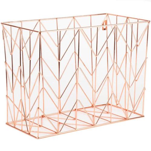 Wire Hanging File Basket 1/Pkg-Copper -854U0106